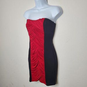 XOXO - Red and Black - Strapless Dress - S…